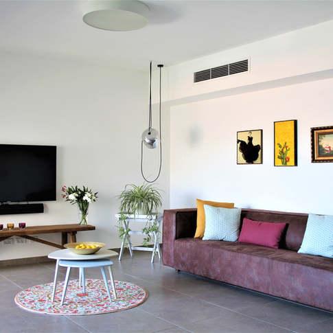 תכנון ועיצוב פנים לדירת קבלן עבור רווקה, הרצליה
