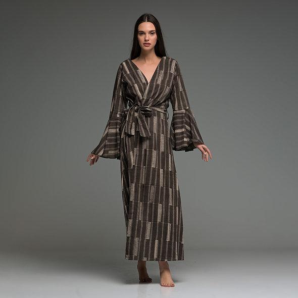 Rooh Dress kimono from boho love black