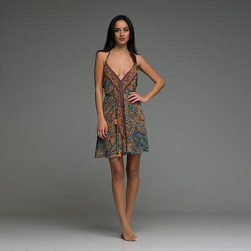 Ola short dress. Boho love summer creations