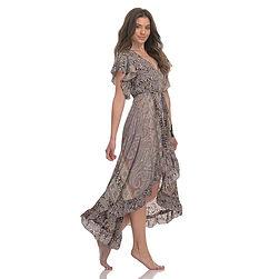 Wrap Around midi dress with Frill LD730