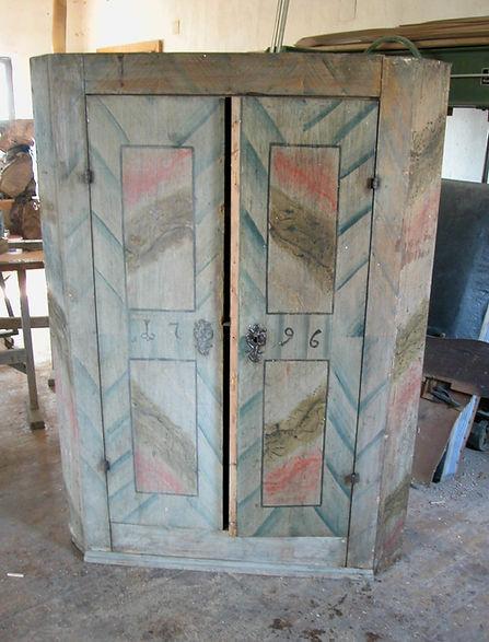 Barock Schrank, mit Malereien, Reperatur nötig, Holzrestaurator