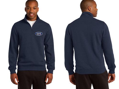 1/4 Zip Sweatshirt, Navy Blue, Embroidered