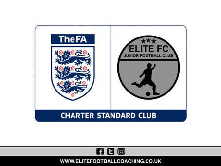 ELITE FC AWARDED FA CHARTER STANDARD STATUS