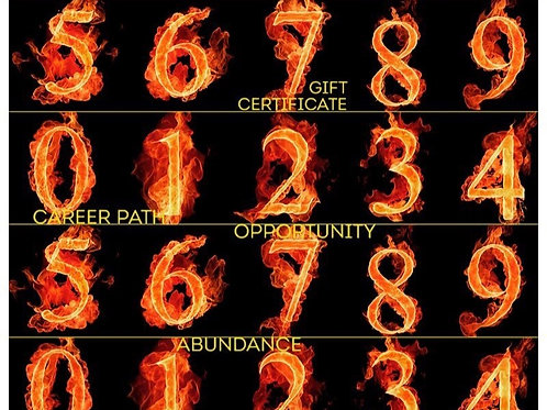 Numerology Reading Gift Certificate