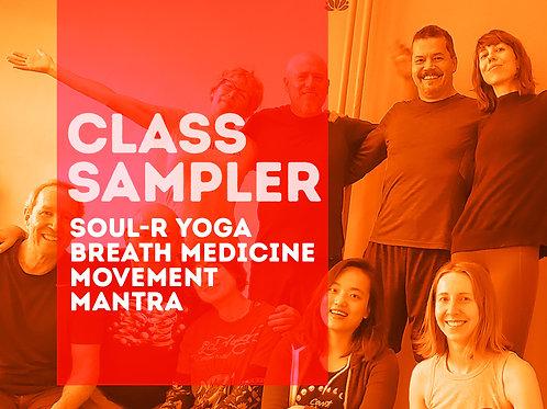 SOUL-R Yoga 3 Class Sampler Package