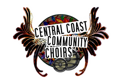 central coast community choir logo white