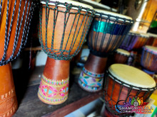 12 Djembe Drums for drumming circles.
