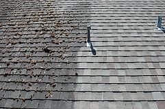 Soft washing an asphalt roof