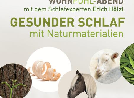Wohnfühl-Abend: Gesunder Schlaf mit Naturmaterialien