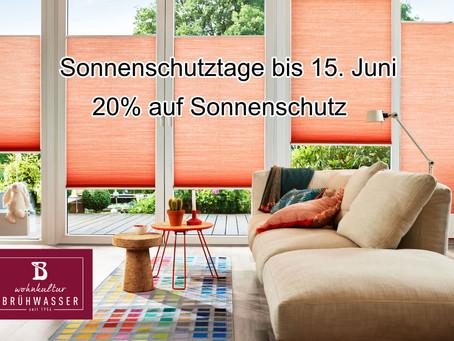 Sonnenschutztage bis 15. Juni
