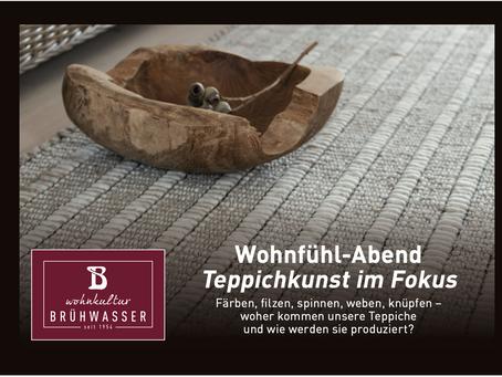 Wohnfühl-Abend: Teppichkunst im Fokus - VERSCHOBEN AUF 28.01.2021