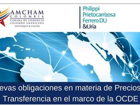 Eventos Próximos: Nuevas obligaciones en materia de Precios de Transferencia en el marco de la OCDE