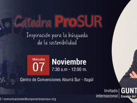 Gunter Pauli, autor de La Economía Azul, estará en Cátedra ProSur el 7 de noviembre