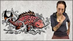 KOI FISH TATOO