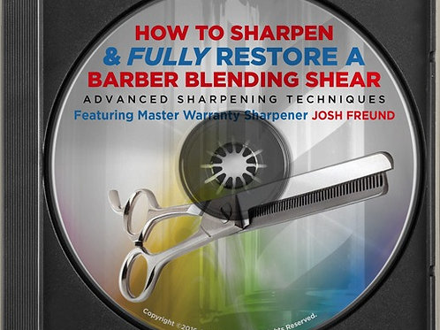 How To Sharpen & Fully Restore A Barber Blending Shear