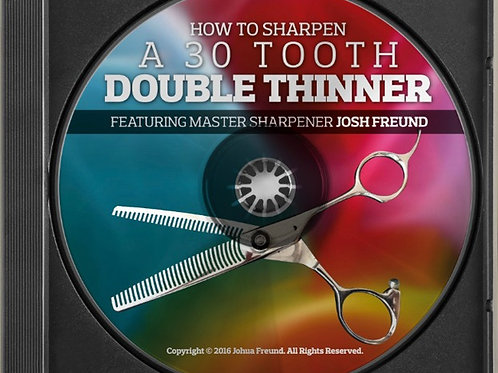 How To Sharpen A 30 Tooth Double Thinner