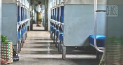 Inside a Train in Yangon
