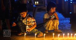 Lighting Candles for Thadingyut