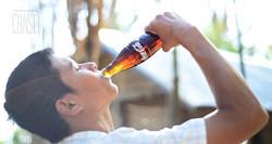 Burmese Man Drinking Coca-Cola