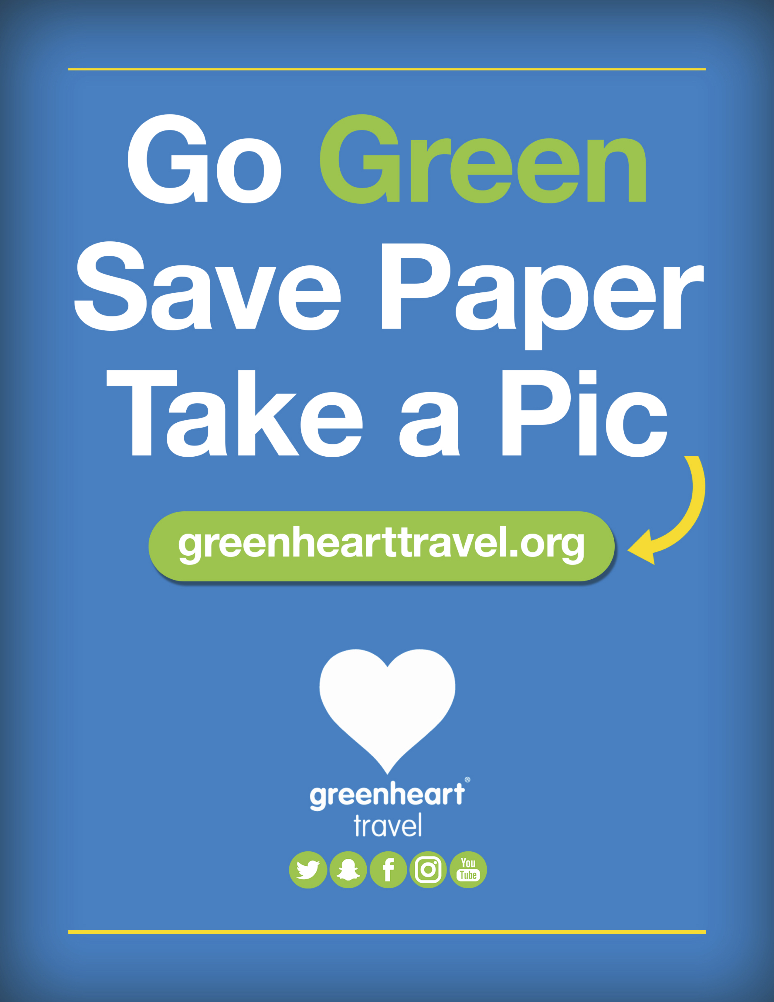 Greenheart Travel Go Green Flyer