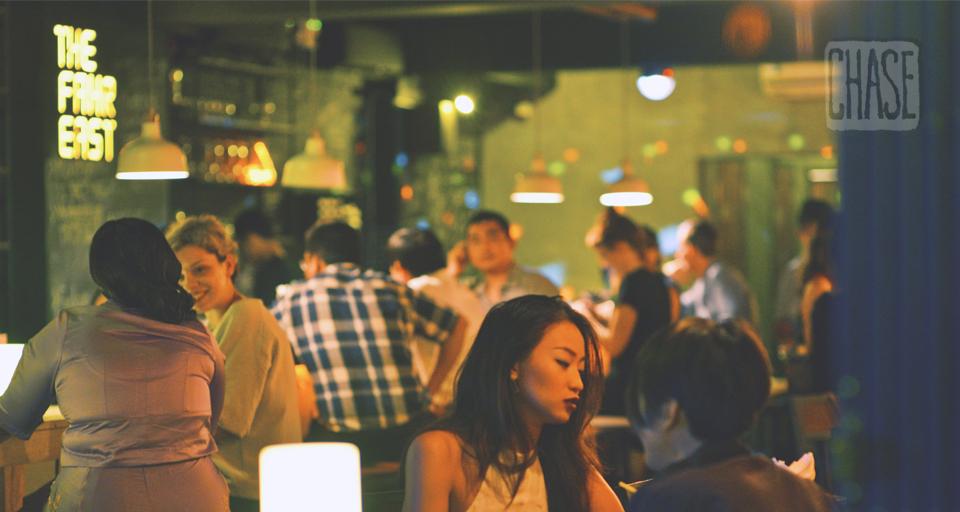 Ambiance at Fahrenheit Bar in Yangon