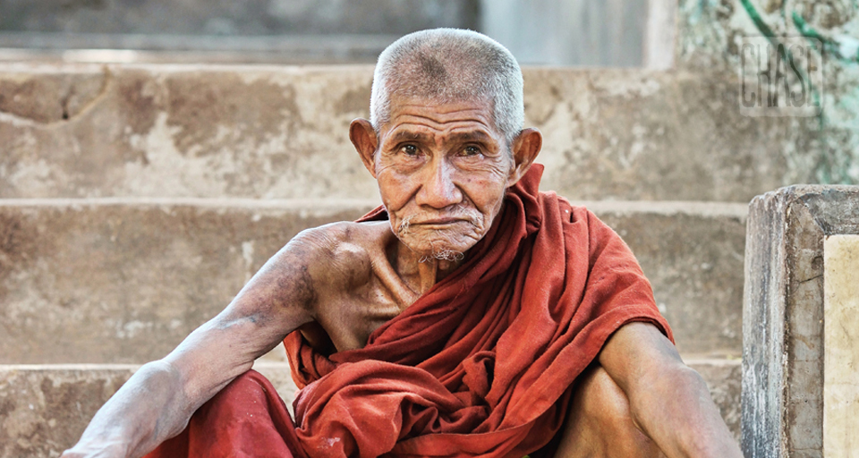 The Gaze of a Buddhist Monk