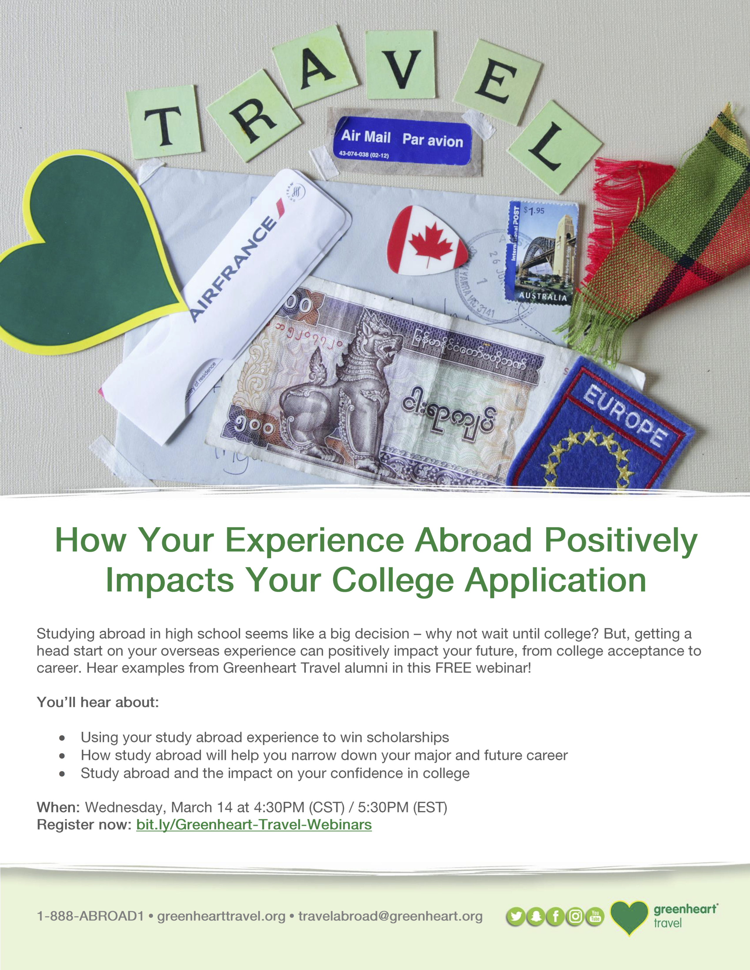 Greenheart Travel Webinar Flyer