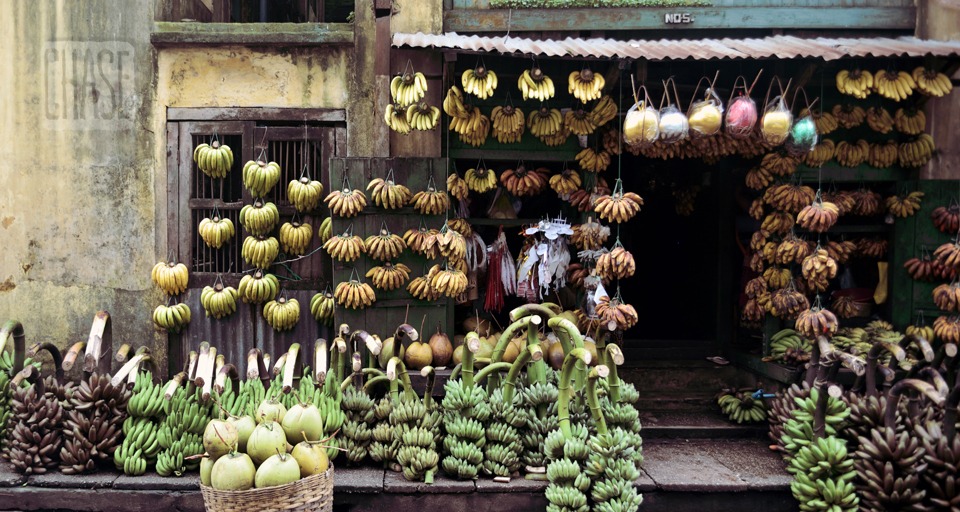 17th Street Banana Shop in Yangon
