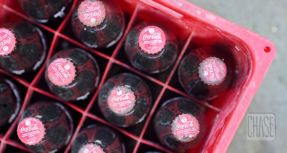 Coca-Cola Glass Bottles in Myanmar