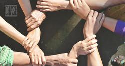 Hands Linked Together for Campaign