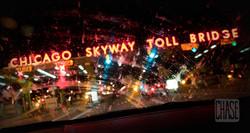 Chicago Skyway Toll Bridge at Night