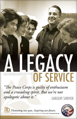 Peace Corps' 50th Anniversary Poster