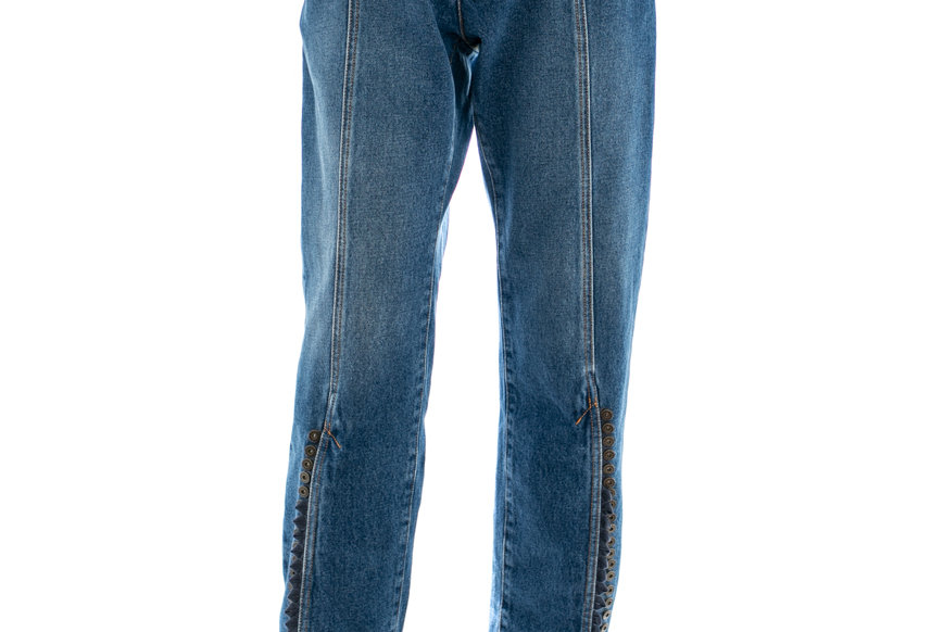 Y/PROJECT / MULTI BUTTON LEG JEANS / NAVY