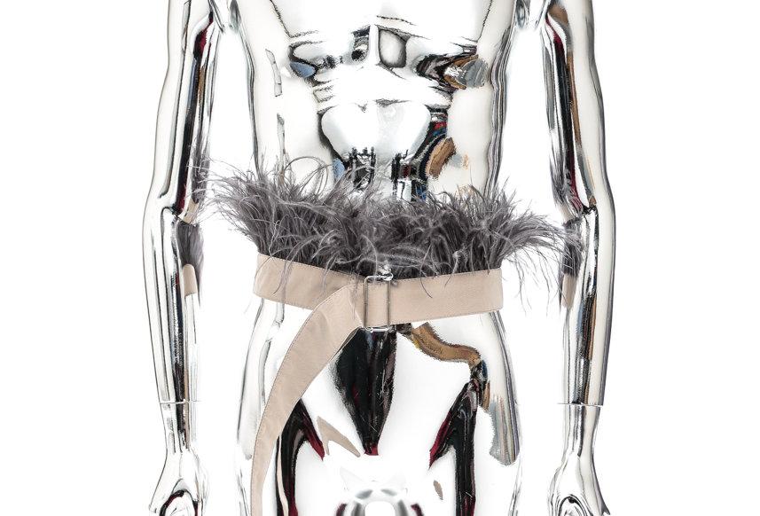 Stefan Cooke / Feather Belt / Cream & Grey