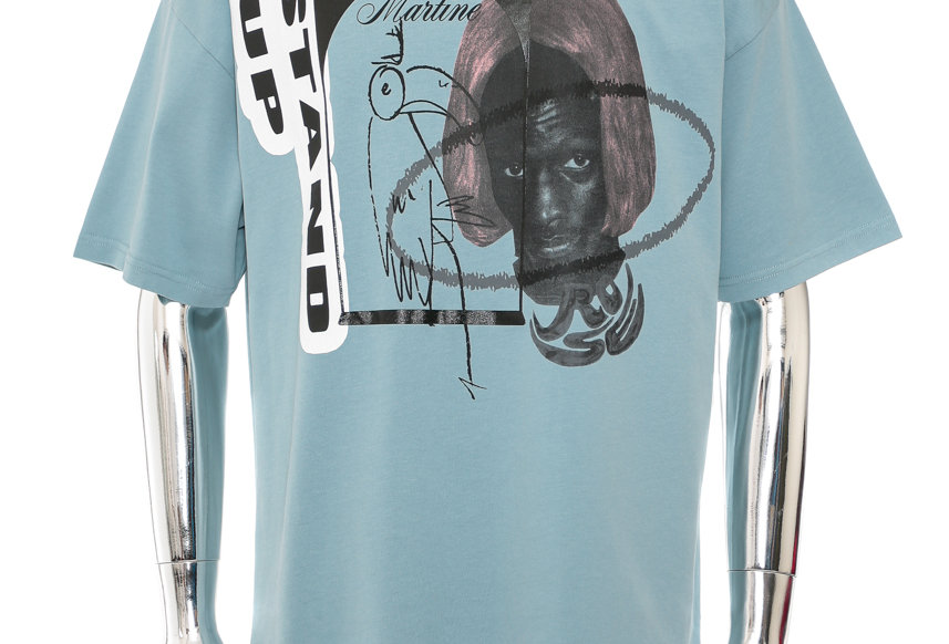 Martine Rose / Oversized Stand Up Tee / Blue