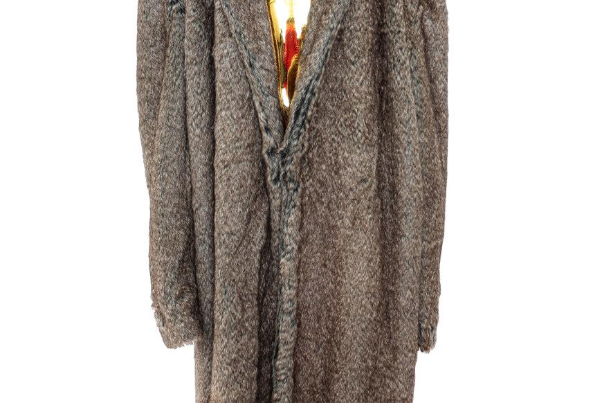 JOHN / Brown Faux-Fur Coat / Brown