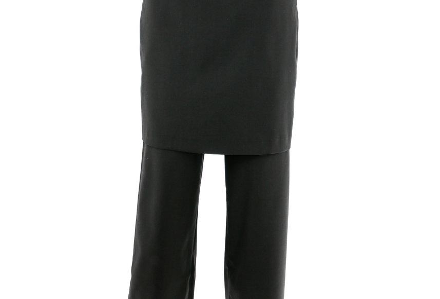 JOHN / Skirt-Effect Trousers / Black
