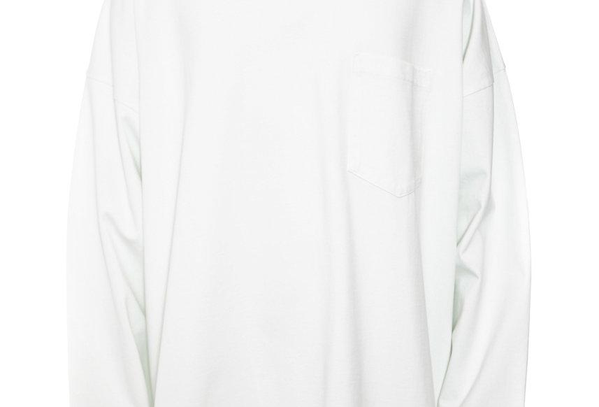 Martine Rose / Oversized Long Sleeve T-Shirt / Chalkwhite