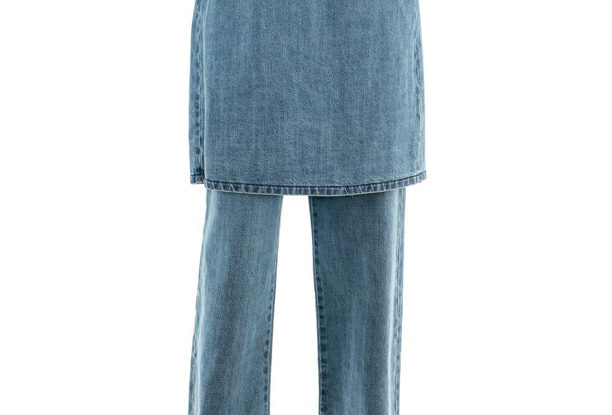 JOHN / Denim Skirt-Effect Trousers