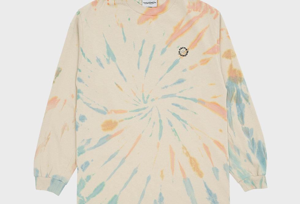 """Carne Bollente / """"PUSSY POWER"""" Long Sleeve T- Shirt / Tie Dye"""