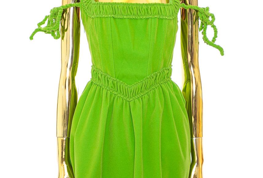 NODRESS / Velvet Corset Dress / Green