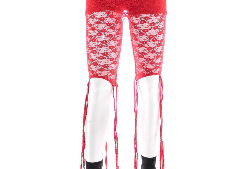 NODRESS / Laced Short Leggings / Red