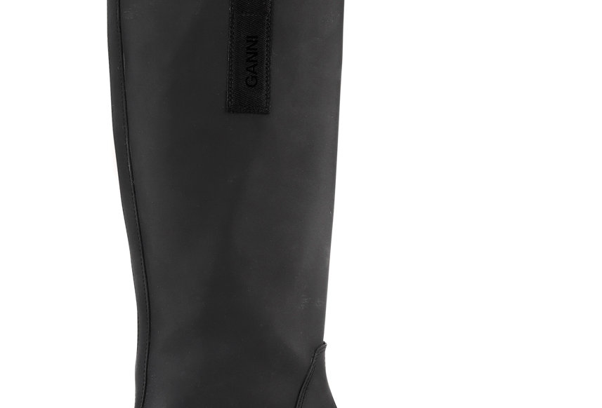 GANNI / Recycled Rubber Country Boots / Black
