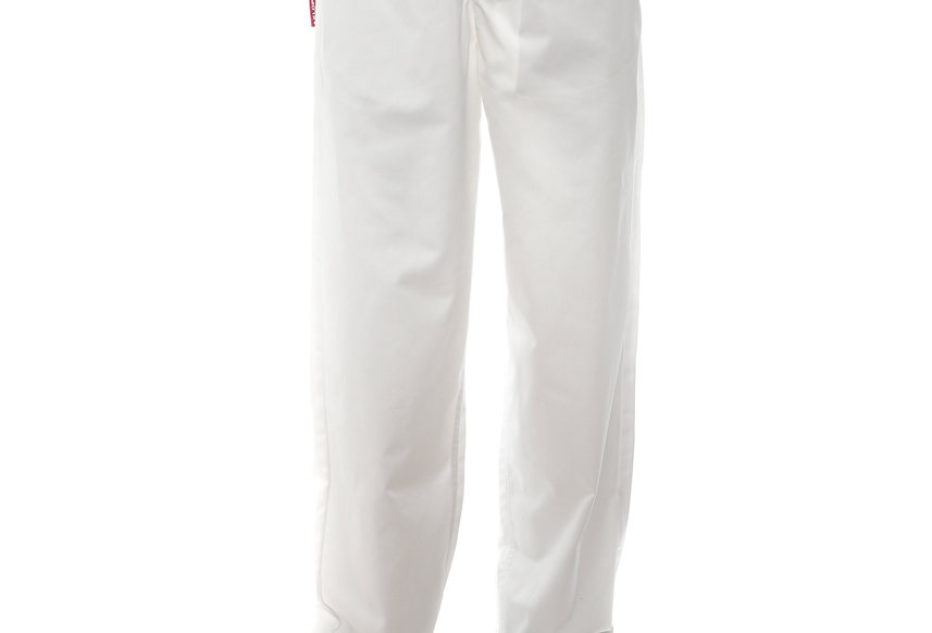 GR10K / KLOPMAN CAPITAL BIO TWILL TROUSERS / WHITE