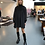 Thumbnail: GANNI / Smock Chiffon Mini Dress / Black