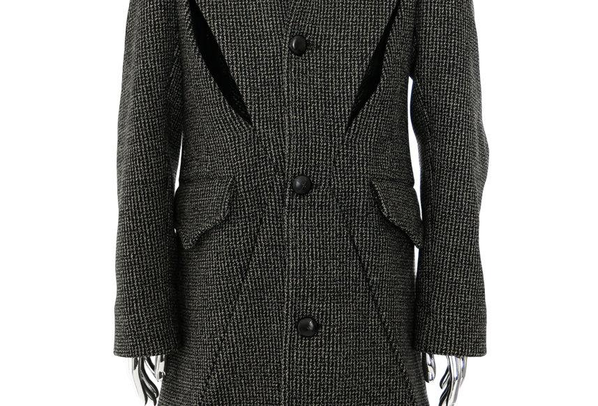 Stefan Cooke / Brown Long Slashed Coat