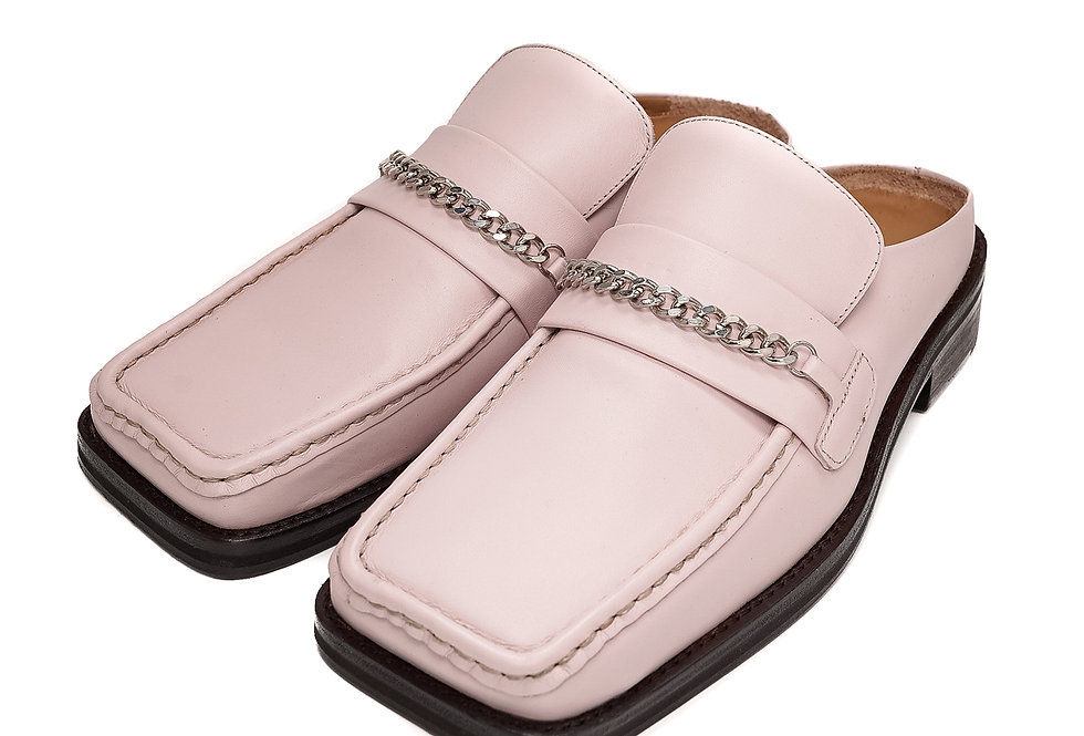 Martine Rose / LOAFER MULE / Pink Leather