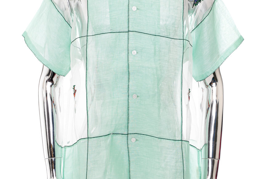 BODE / SHEER EMBROIDERY SHIRT / Green