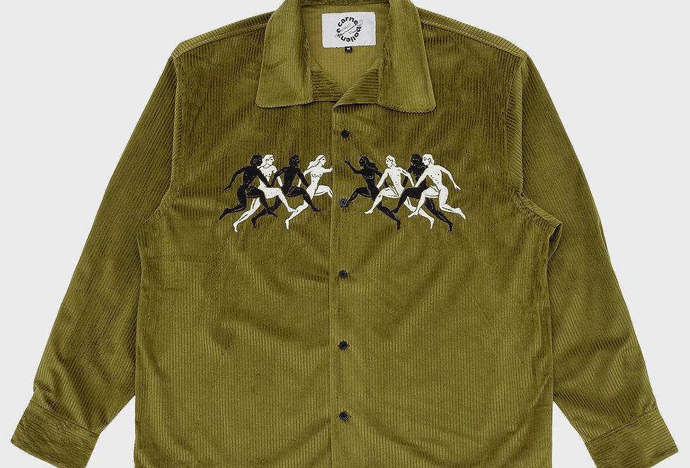 "Carne Bollente / ""DOUBLE PENELOPE"" Long Sleeve Shirt / Green"