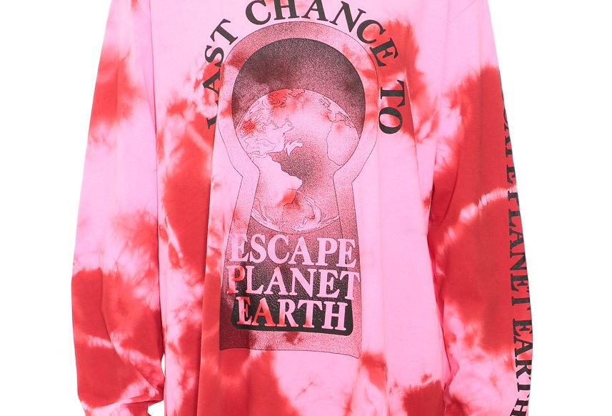 Ashley Williams /  LONG SLEEVE TEE / PINK TIE DYE - PLANET EARTH